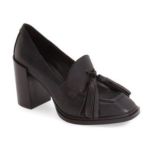 Jeffrey Campbell Harper Tassel Loafer Pump Heel
